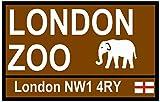 TNND Street Road Signs (London Zoo), Cartello Stradale in Metallo, 20,3 x 30,5 cm