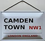 Blechschild Con cordino, 30 x 20 cm, Road Sign: Camden Town London England - Blechemma
