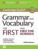 Grammar and Vocabulary for First and First for Schools Book with Answers [Lingua inglese]