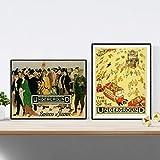 Nacnic Poster Vintage. Manifesti pubblicitari del Mondo. Due Fogli Vintage metropolitana di Londra. Formato A4