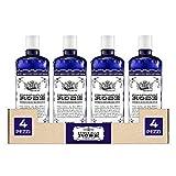 Acqua alle Rose, Tonico Rinfrescante Acqua Distillata Alle Rose - 4 Confezioni da 300 ml