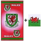 Asciugamano da spiaggia con stemma del Galles FA (100% cotone)