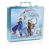 Frozen Valigetta Colori Per Bambini, Set Da Disegno Disney Con 60 Pezzi, Kit Per Disegnare E Dipingere, Regali Creativi Per Bambina