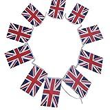 G2PLUS Bandierine Dell'Inghilterra, Vessilli della Nazione Inglese, Lunghezza di 11 Metri con 40 Gagliardetti
