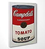 LaMAGLIERIA FINE Art - Andy Warhol Campbells - Quadro in Tela Canvas Pronto da Appendere - Spessore Telaio 2cm, 50cmx70cm