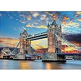 GuDoQi Puzzle da 1000 Pezzi Adulti Puzzle Costruzioni Famose Torre di Londra Ponte per Decorazione della Casa