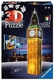 Ravensburger 12588 Puzzle 3D, Big Ben, Edizione Speciale Notte con LED, 216 Pezzi, Età Consigliata 8+, Puzzle Ravensburger Alta Qualità